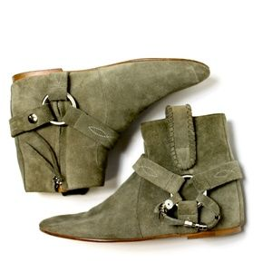 Isabel Marant Ralf Olive Suede Ankle Boots